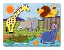 Puzzle toca e sente | animais do zoo